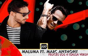 Felices los 4 Maluma, Marc Anthony